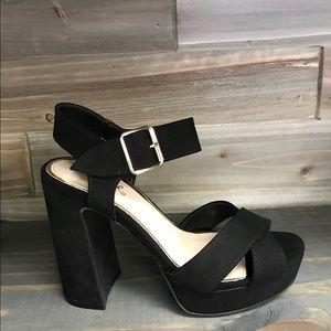 Shoes - New Black Suede heel Sz 6-10